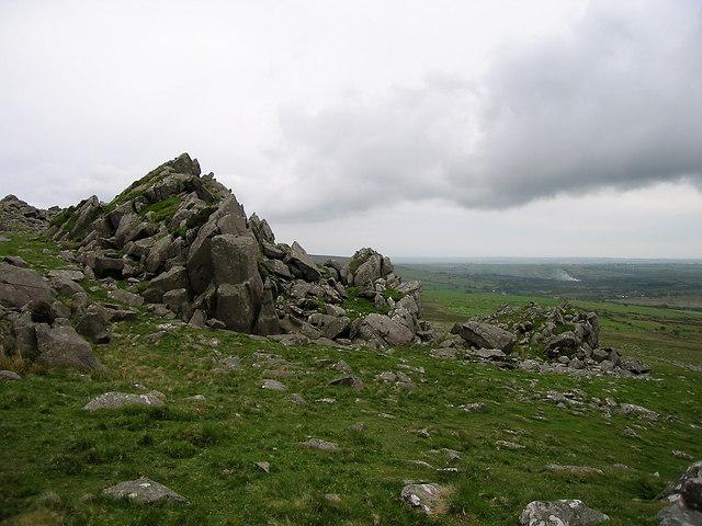 Rock outcrop in the eastern Preseli