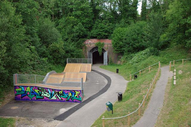 Heathfield Tunnel and skateboard park