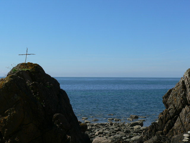 Looking out from St. Ninian's Cave