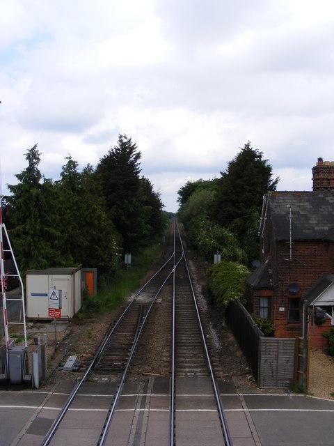 Railway line towards Ipswich