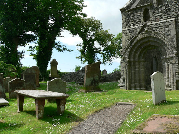 Table gravestone at the Priory