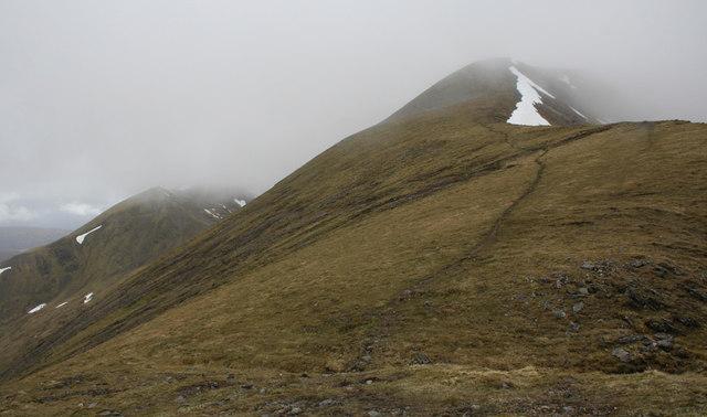The ridge to Aonach Beag