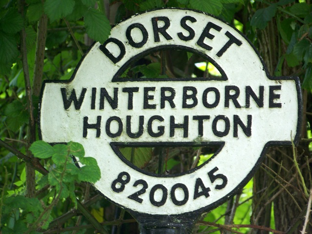 Sign detail, Winterborne Houghton