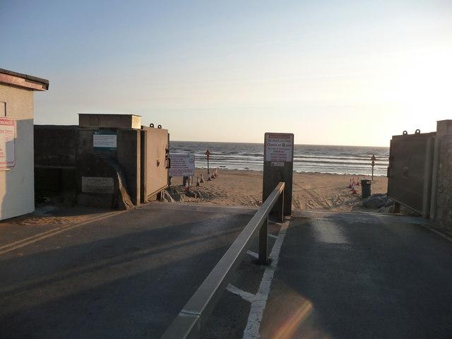 Brean : Brean Beach & Car Ramp
