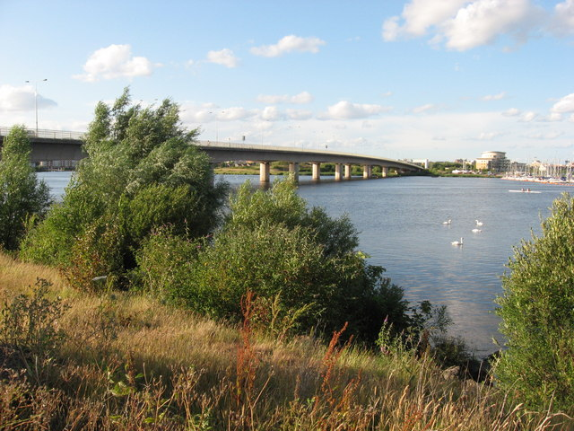 A4232 viaduct over River Taff, Cardiff