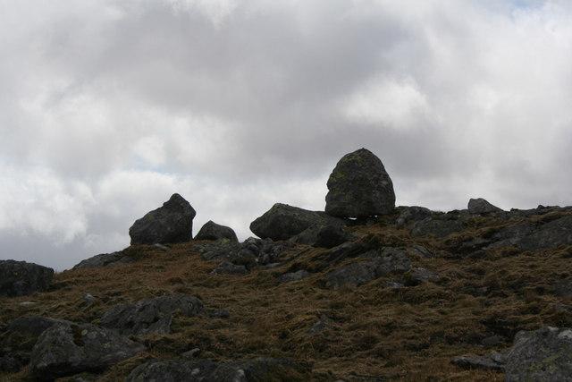 Boulders on Beinn Eibhinn West summit