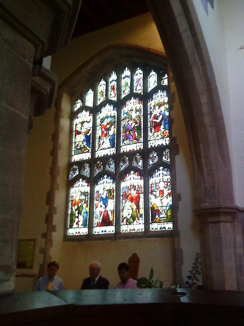 Chancel window at St. Peter's Church, Lowick