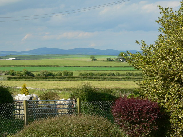 View from Whithorn across fields to Chapelheron