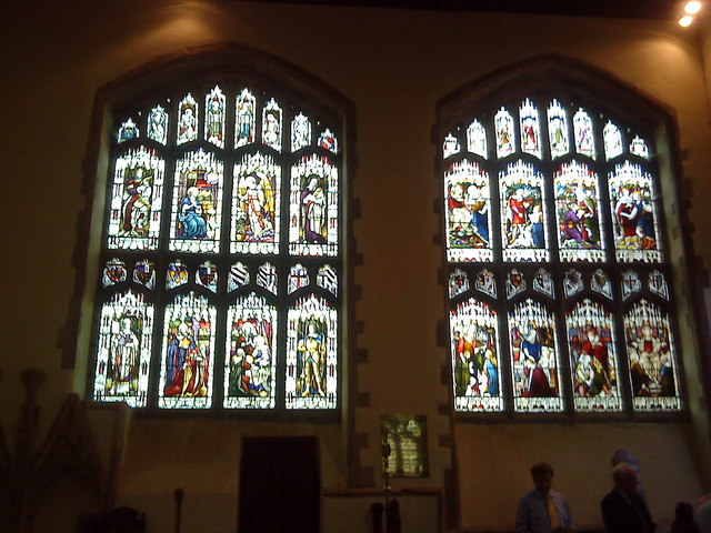 Chancel windows in St. Peter's Church, Lowick
