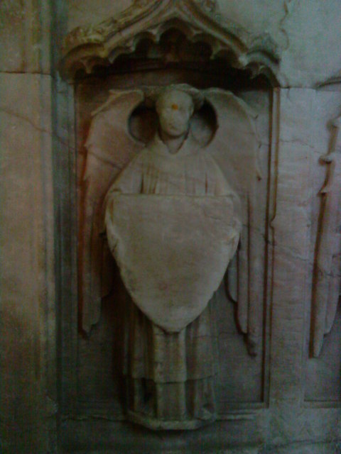 Detail of the tomb of Sir Ralph Greene (d.1419) and his wife Katherine