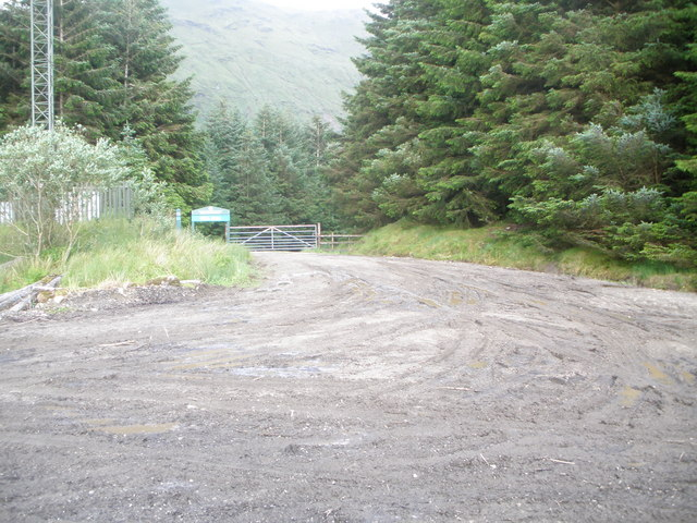 Start of the forestry road to Glen Croe