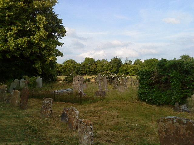 Tombs in the churchyard at Lowick