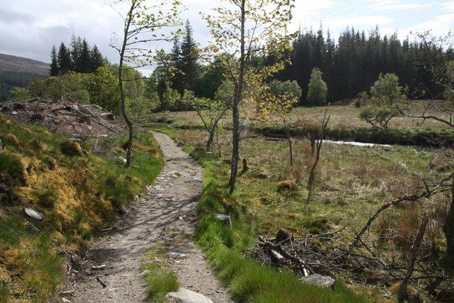 The path to Loch Ossian