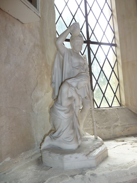 St John the Apostle, Marchwood- statue