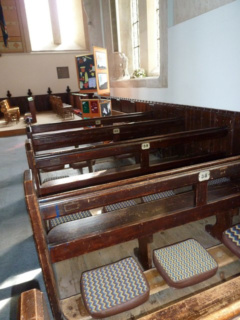 St John the Apostle, Marchwood- numbered pews
