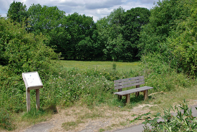 Seat and interpretative board, Cuckoo Trail