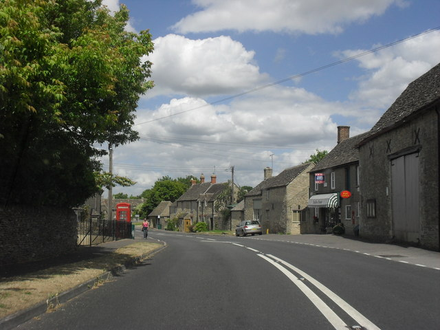 The A417 through Poulton