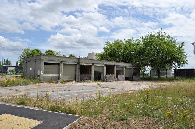 Derelict buildings on RAF Finningley