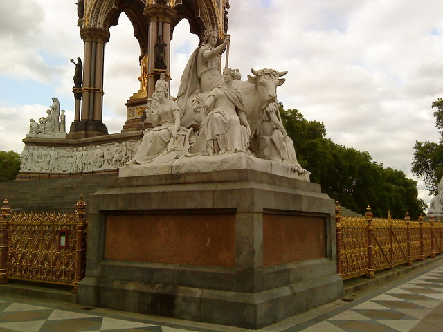 Europe corner of the Albert Memorial