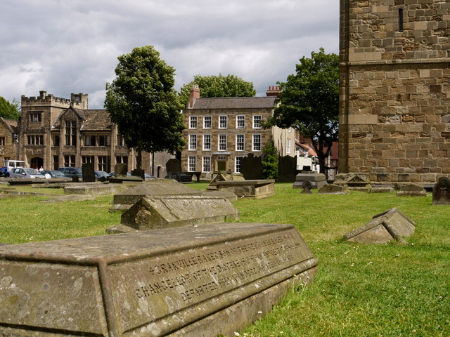 Buildings of Durham University Over Gravestones