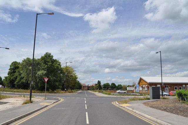 Crossroads on former RAF Finningley