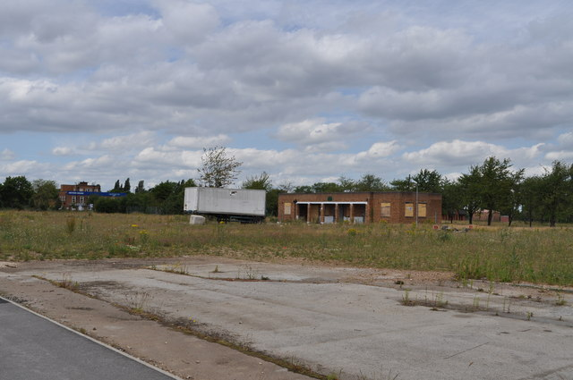 Derelict buildings on former RAF Finningley