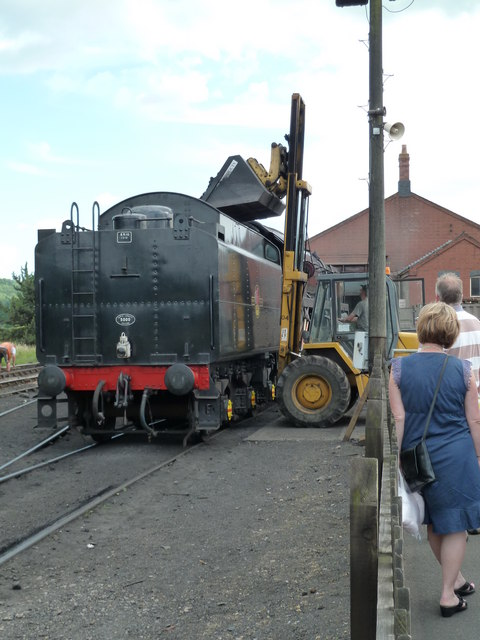 Toddington Station - coaling a 9F
