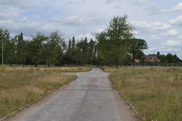 Disused roads on former RAF Finningley