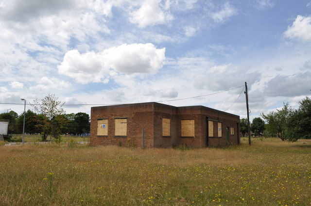 Derelict buildings on former RAF Finningley