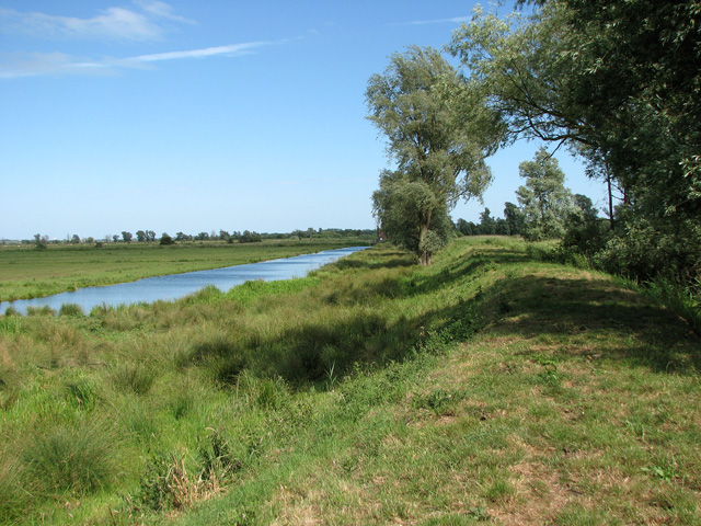 Path along the river bank