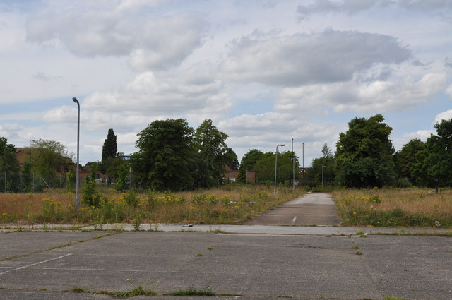 Disused car park for Holy Family RC church