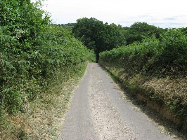Redbridge Lane east to Redbridge Farm