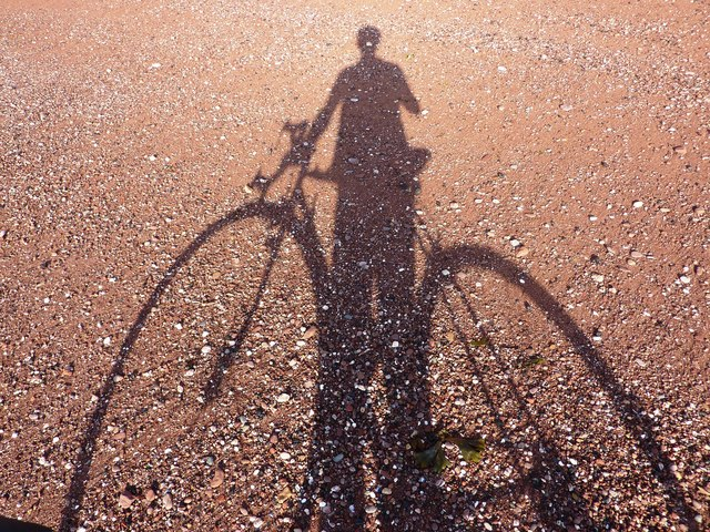 Shadow on the sand, Hollicombe beach, Paignton