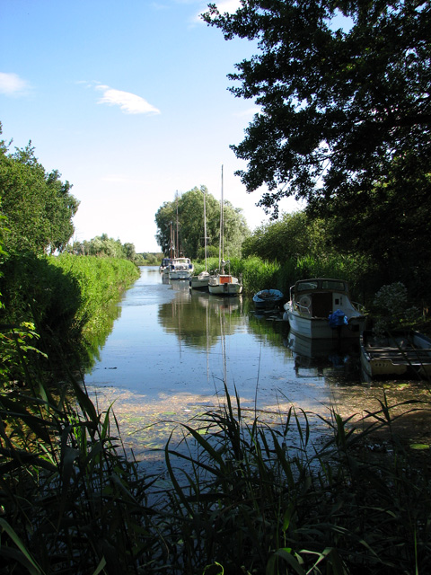 Moorings north of the River Waveney