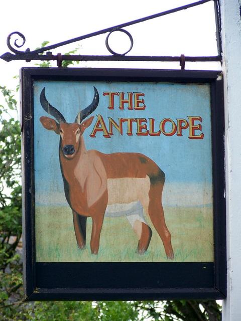 Sign for the Antelope Inn