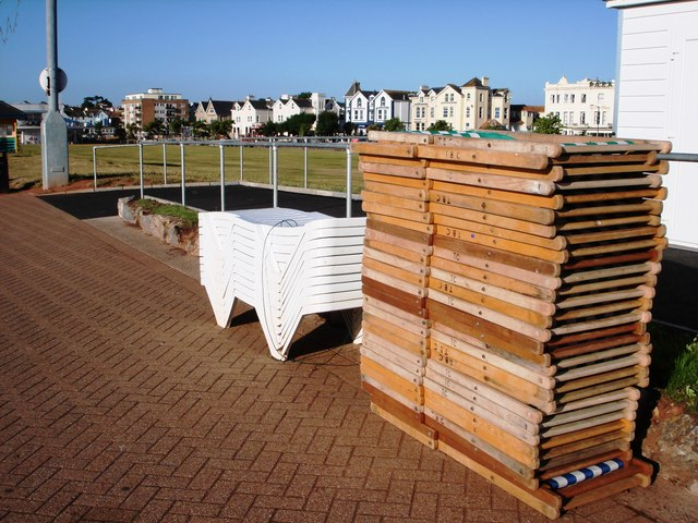 Deckchairs and recliners, Paignton promenade