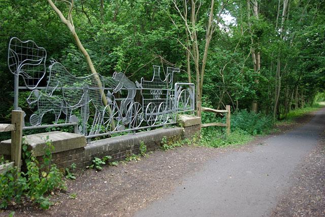 Cattle Creep Bridge - art work