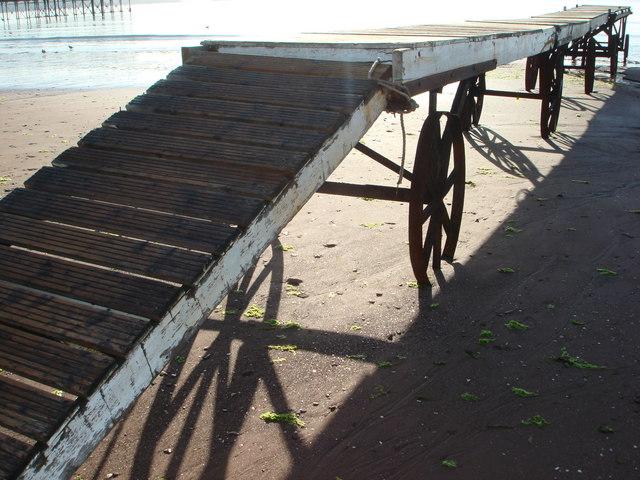 Mobile landing stage, Paignton beach