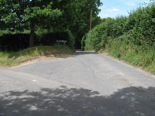 Allfreys Lane junction with Redbridge Lane