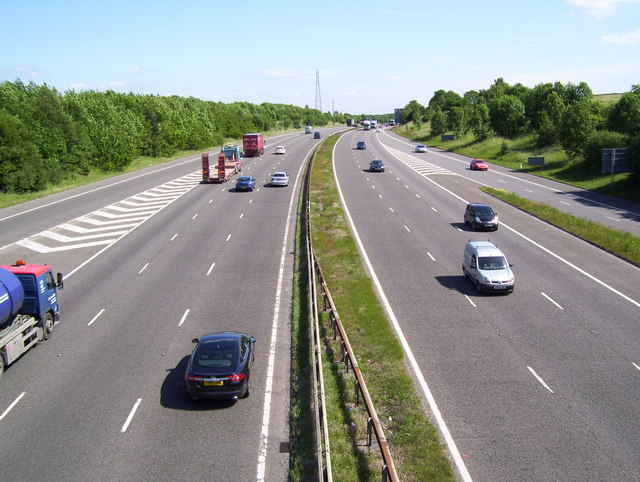 The M1 near junction 36