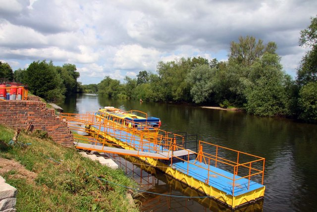 Landing stage on the River Wye