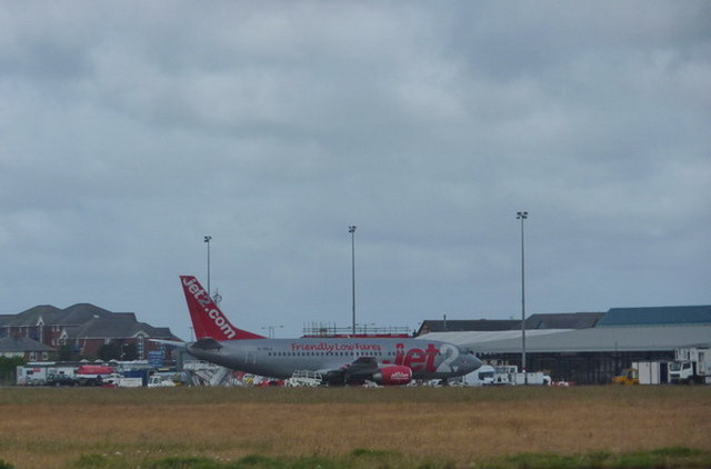 Jet2.com aircraft Blackpool Airport