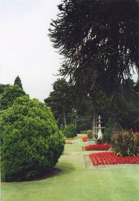 The gardens at Brodsworth Hall near Doncaster