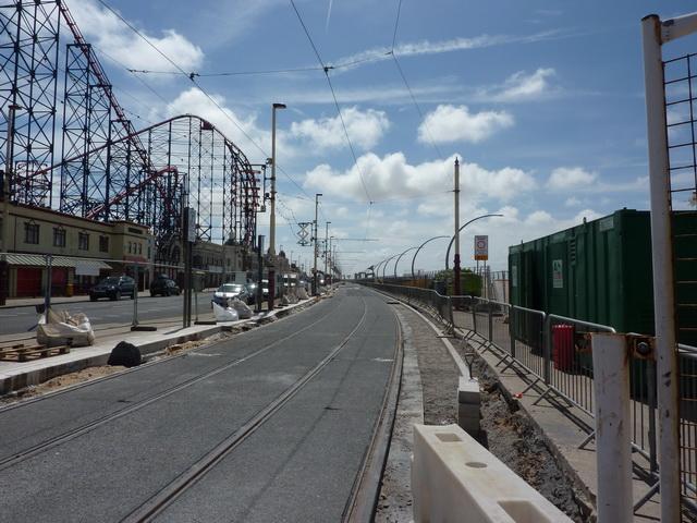 Tram lines at Blackpool Pleasure Beach