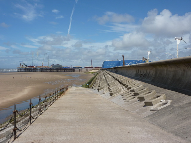 Ramp from The Promenade to the beach near the Pleasure Beach