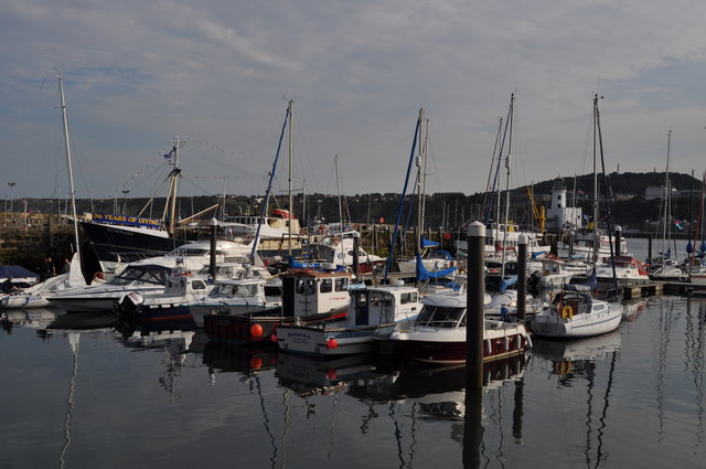 Boats in Scarborough harbour