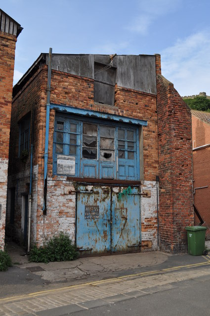 Derelict building in Quay Street, Scarborough