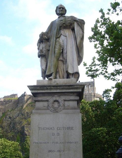 Dr Guthrie statue, Princes Street Gardens