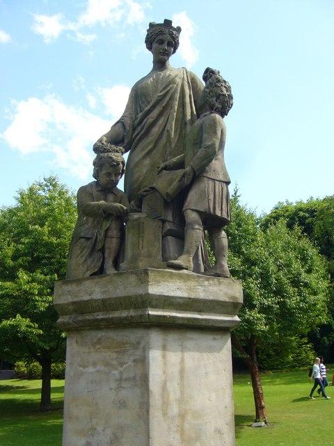 Genius Of Architecture statue, Princes Street Gardens