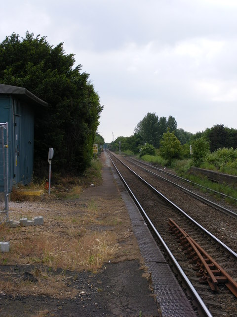 Eastern end of Trimley Station